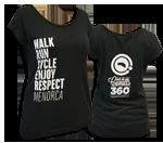 "Camiseta dona de cotó ""Enjoy, Respect, Menorca"" |Negra"