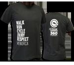 "Camiseta unisex de cotó ""Enjoy, Respect, Menorca"" | Negra"