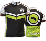 Maillot ciclista unisex |Negro-Verde