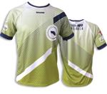 Camiseta unisex Coolmax | Verd, blanc i blau marí